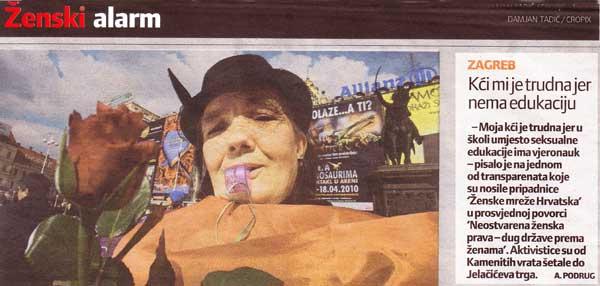 Slobodna Dalmacija: Ženski alarm